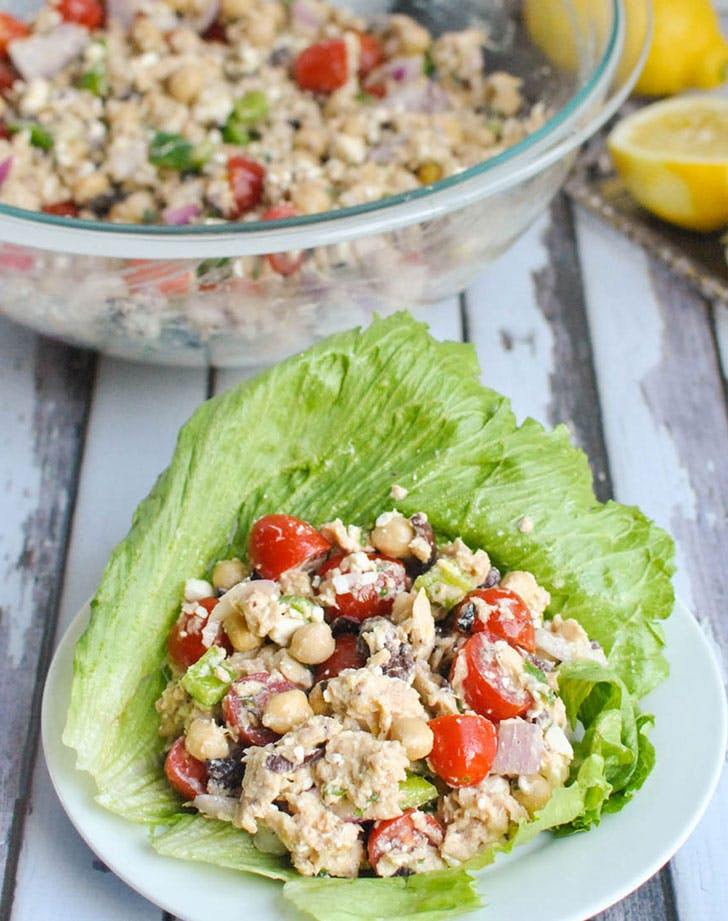 no cook summer dinners tuna lettuce wraps