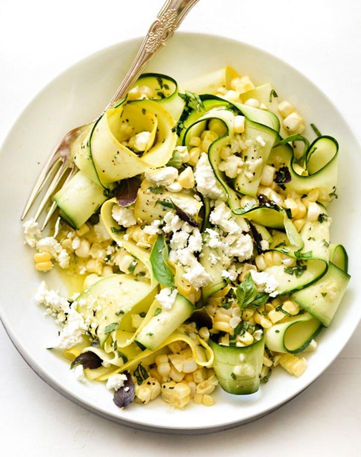 no cook summer dinners zucchini corn salad