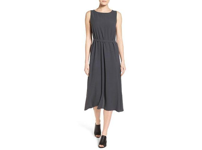 nordstrom sale black midi dress