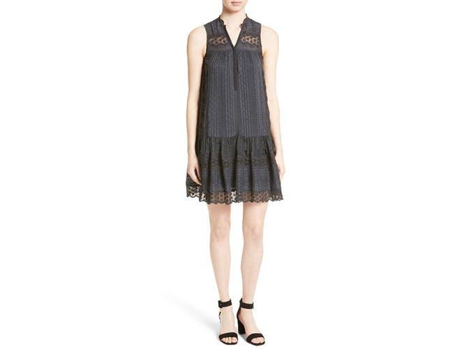 nordstrom sale black tent dress