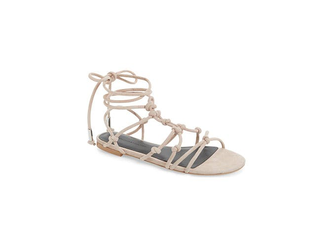 nordstrom sale knotted lace up sandals