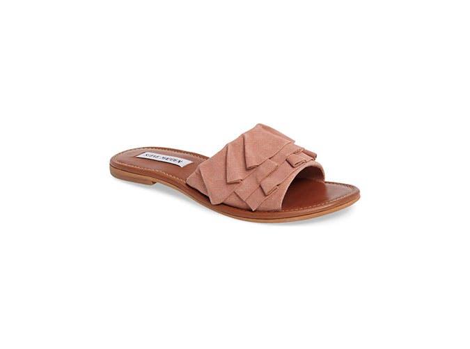 nordstrom sale leather ruffled slides