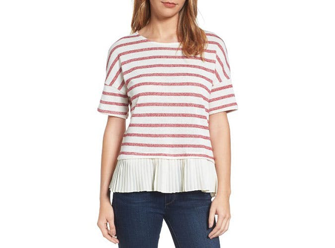 nordstrom sale red striped top