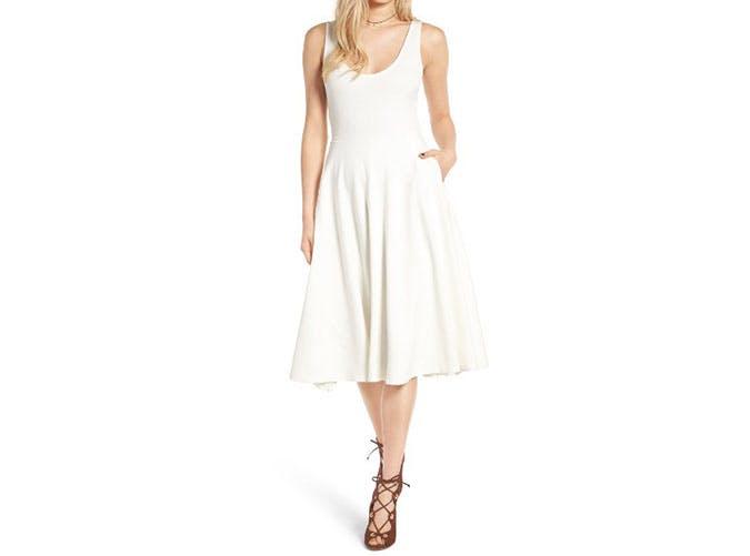 nordstrom sale white midi dress