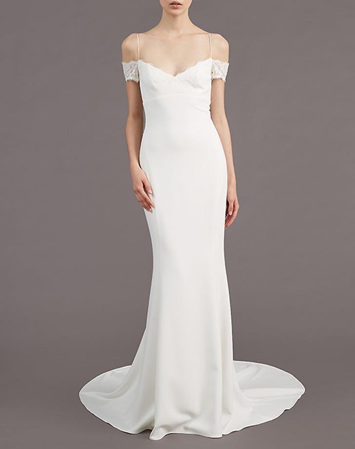 off shoulder wedding dress 2