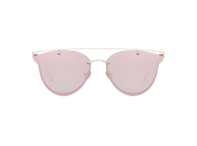 perverse rose gold cat eye sunglasses