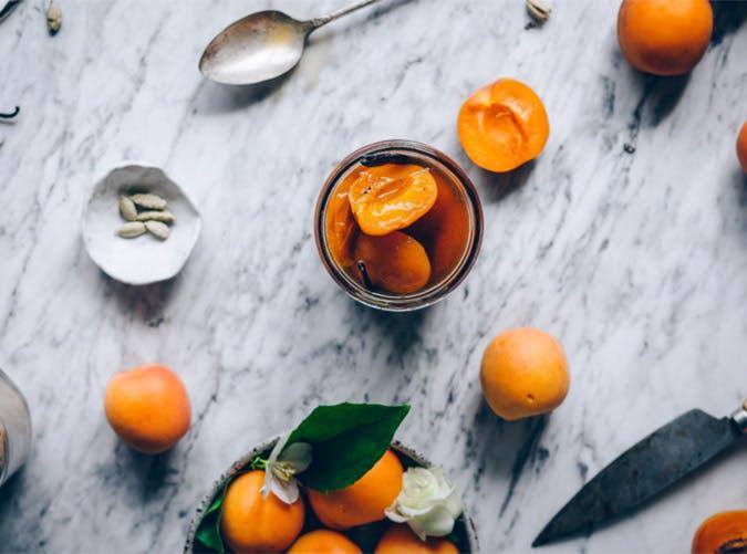 poached apricots 501