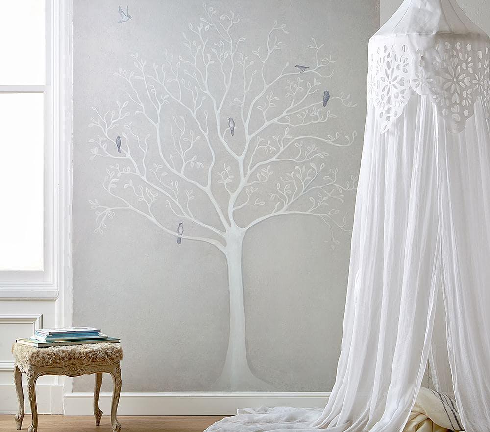 Easy hang mural wall paper trend purewow - Easy peel off wallpaper ...