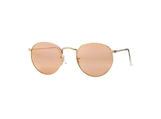 ray ban flash round sunglasses
