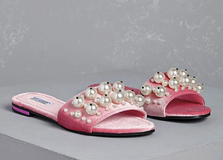 sandals pearls