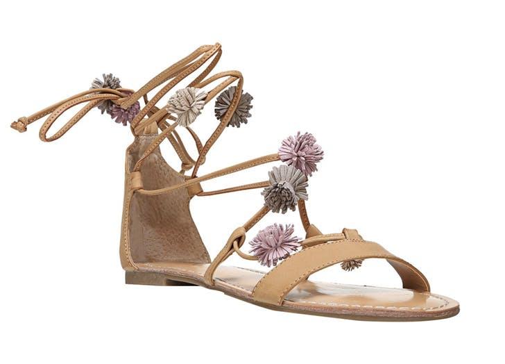 sandals pom