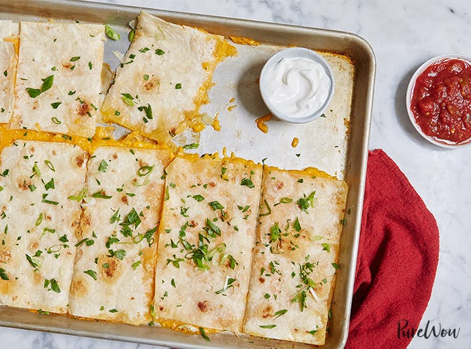 sheet pan quesadillas purewow