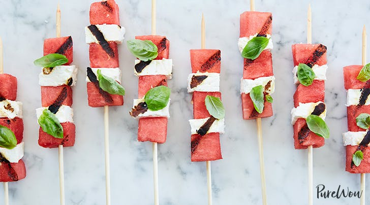 Grilled Watermelon-Feta Skewers