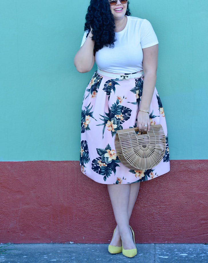 slimming summer outfits a line skirt