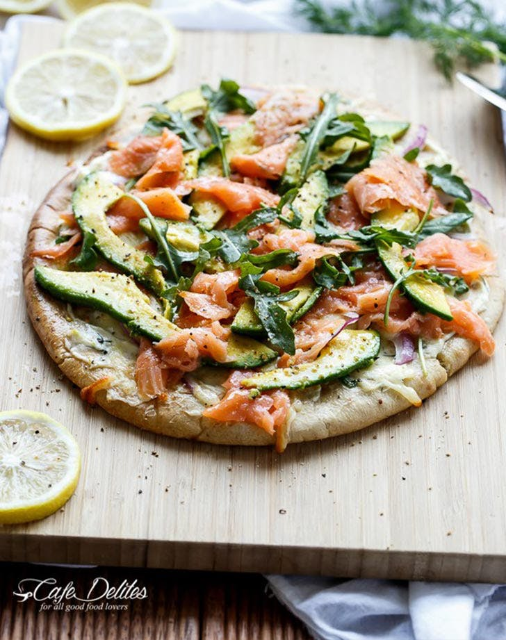 smoked salmon avocado pizza LIST