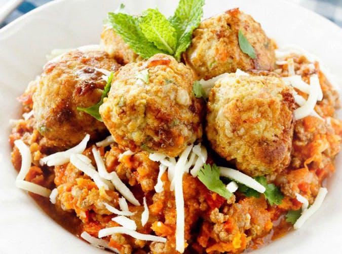 summer dinner under 500 calories chicken meatballs