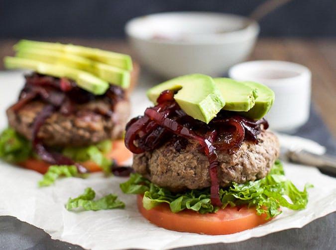 summer dinner under 500 calories paleo burgers