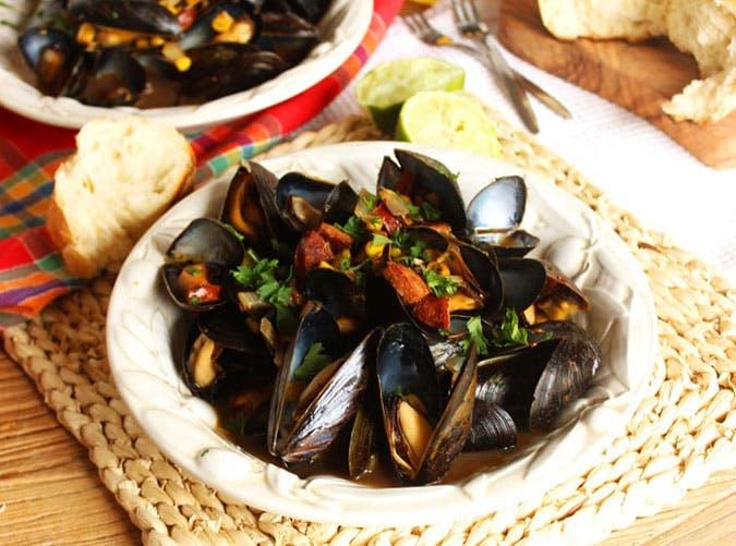 summer dinner under 500 calories steamed mussels