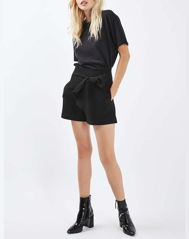 topshop tie waist shorts NY