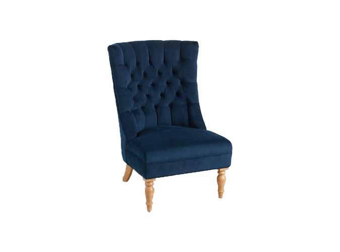 world market blue tufted arm chair