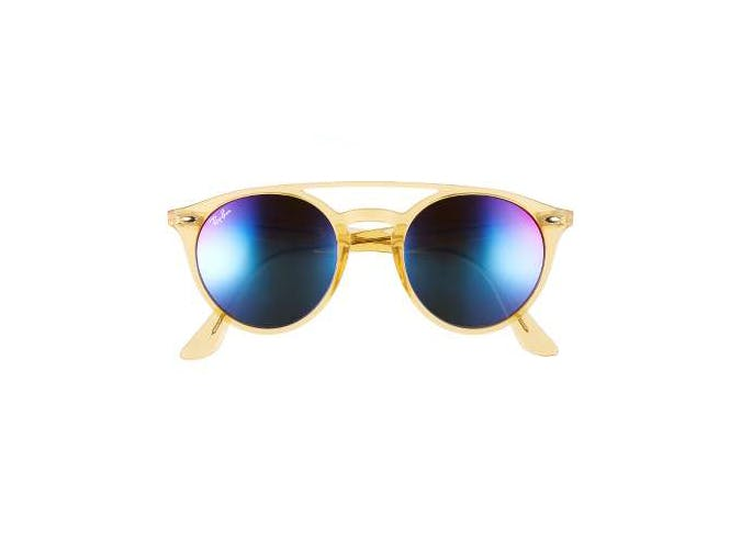 yellow mirrored ray ban sunglasses