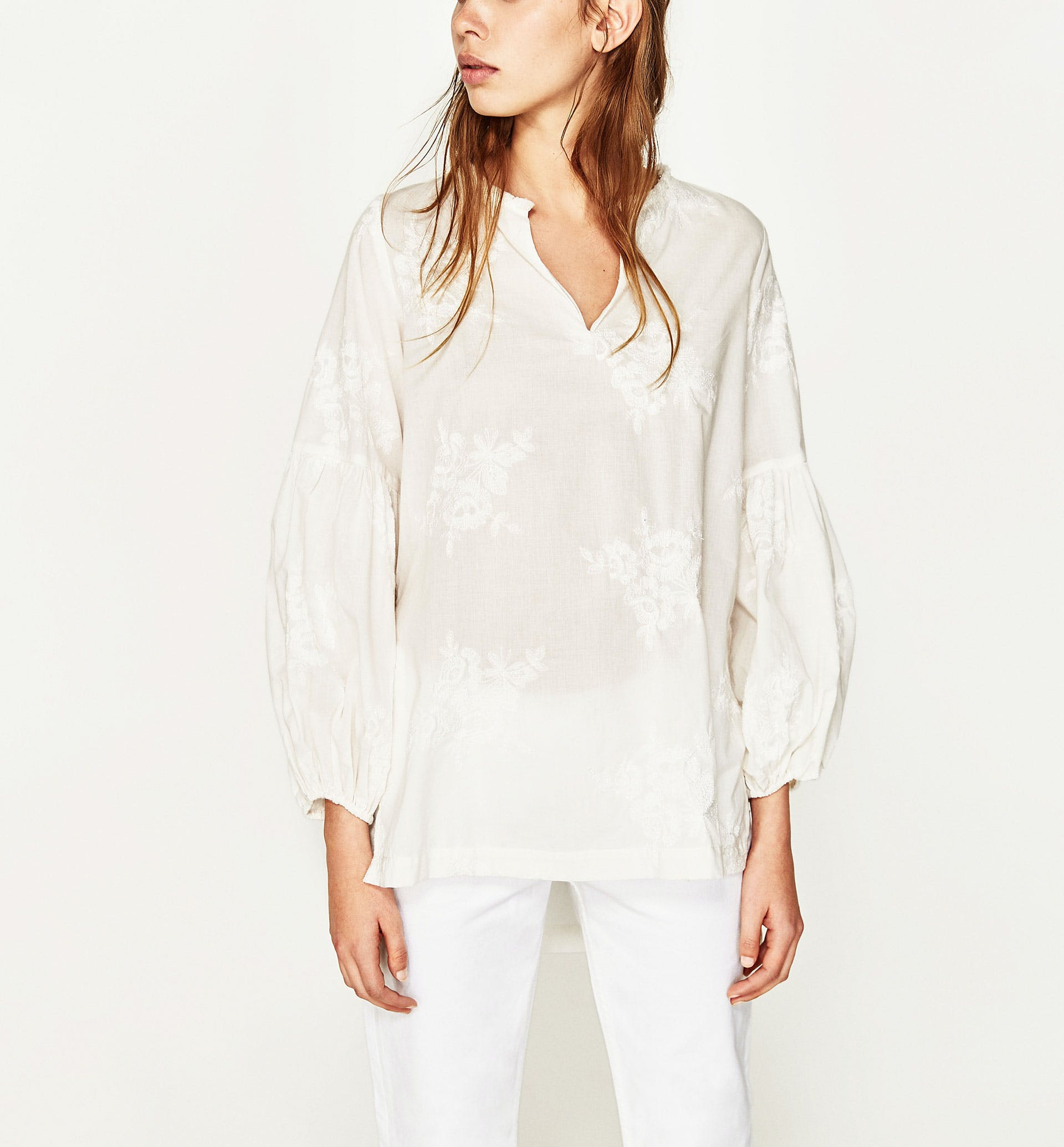 zara white shirt los angeles
