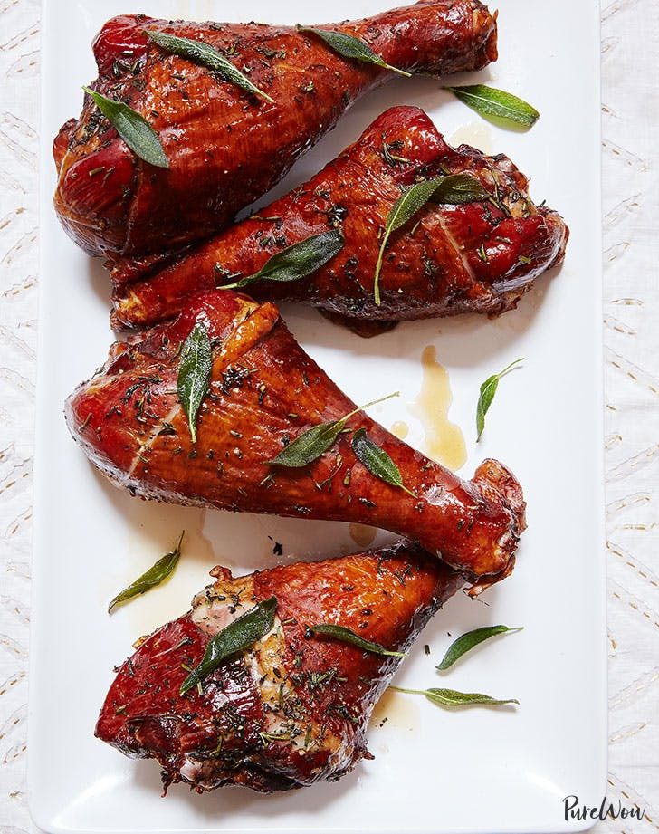 2roasted turkey legs