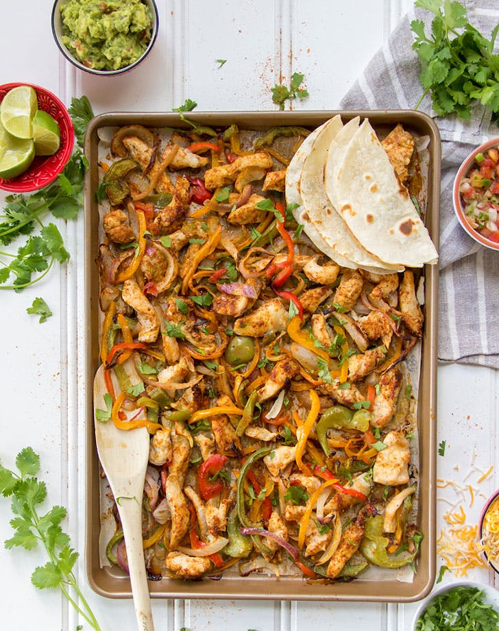 5 ingredient summer dinner chicken fajita
