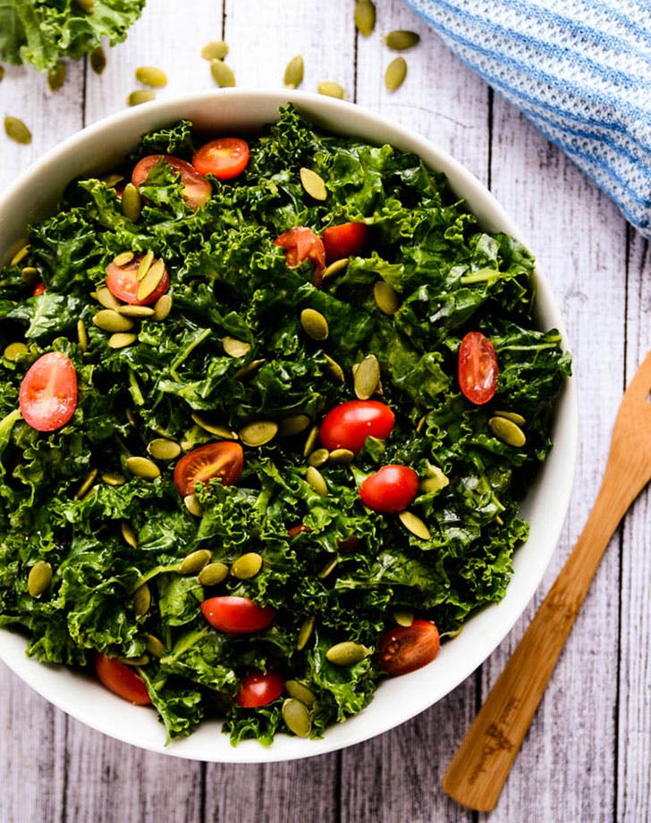 5 ingredient summer dinner kale salad