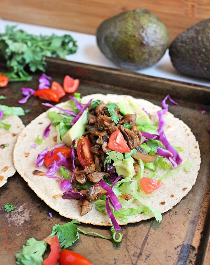 5 ingredient summer dinner mushroom tacos