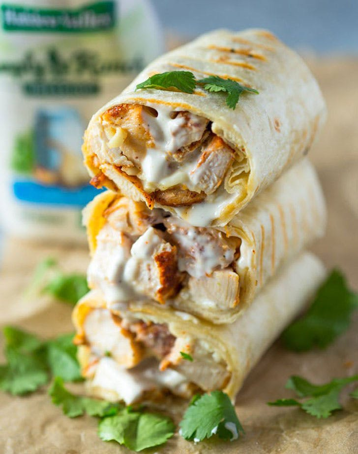 5 ingredient summer dinner ranch wrap