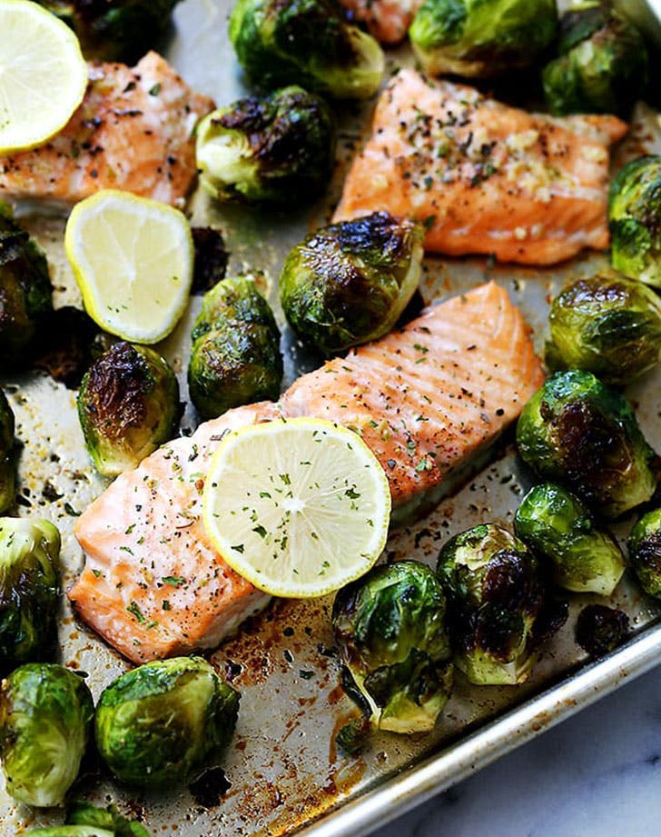 5 ingredient summer dinner salmon brussels