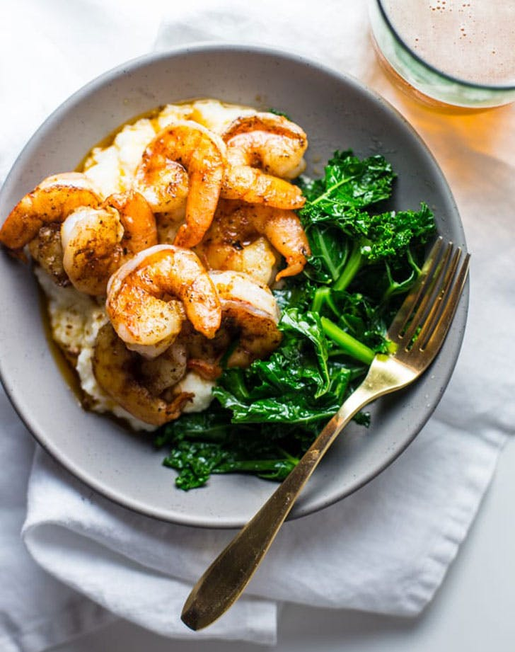 5 ingredient summer dinner shrimp grits