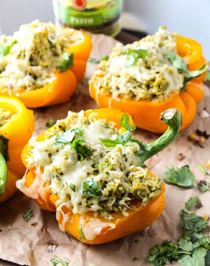 5 ingredient summer dinner stuffed peppers