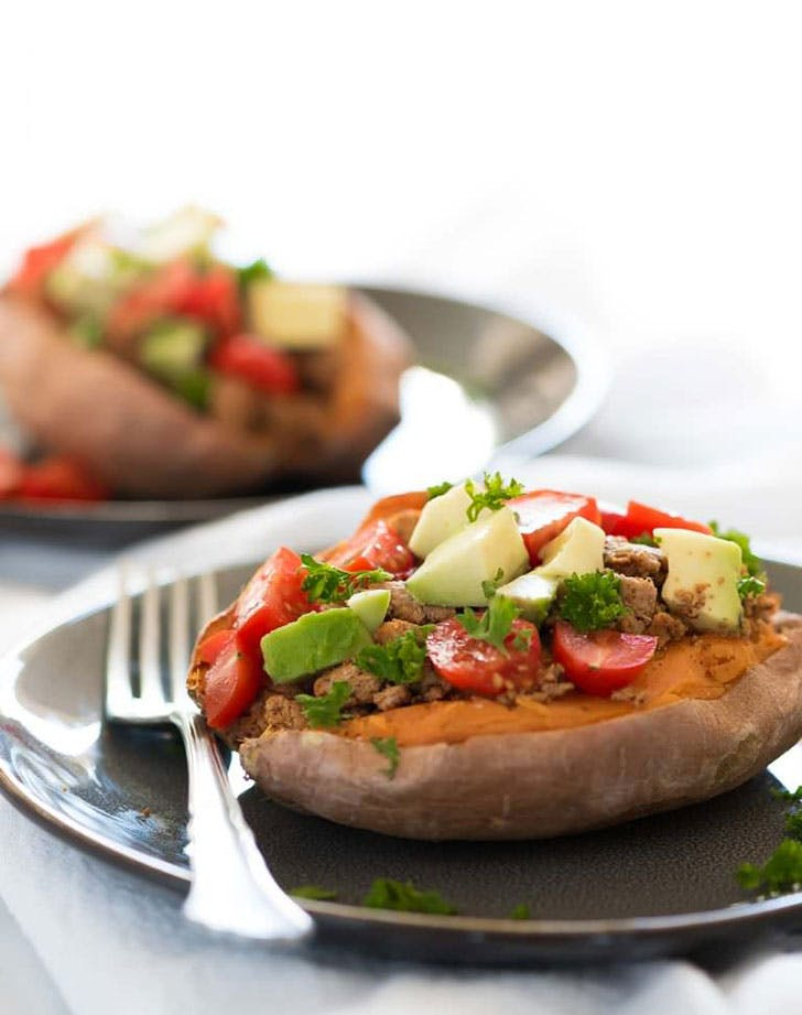 5 ingredient summer dinner taco potato