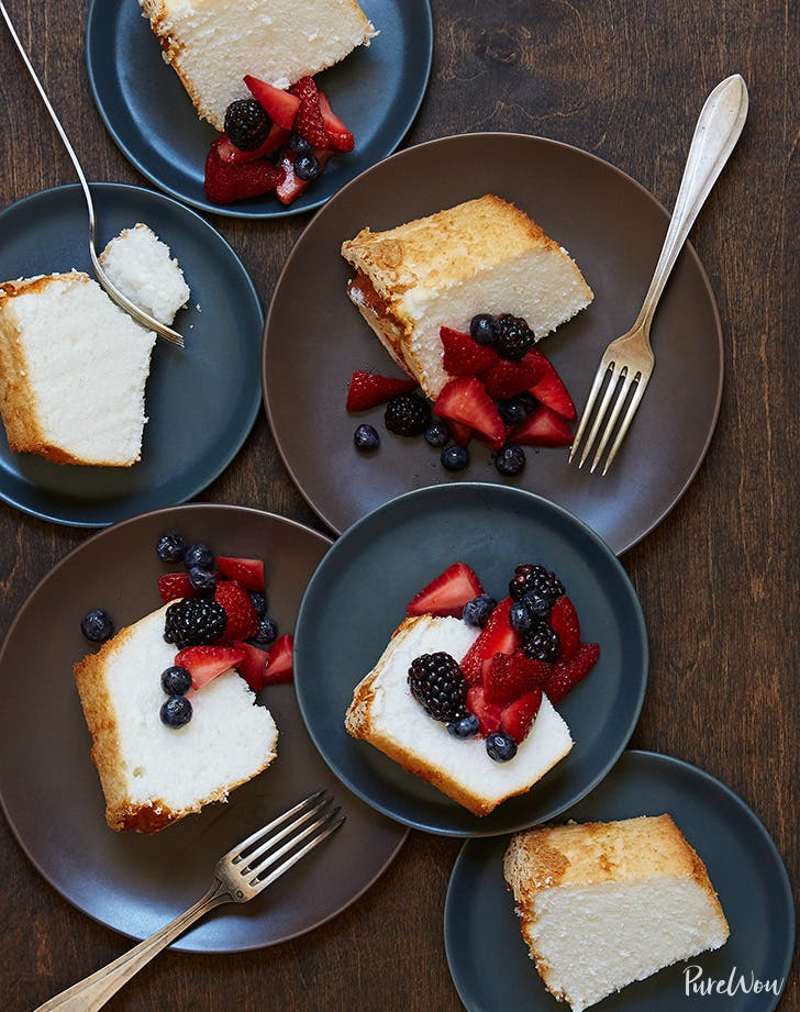 Angel Food Cake recipe with fresh berries