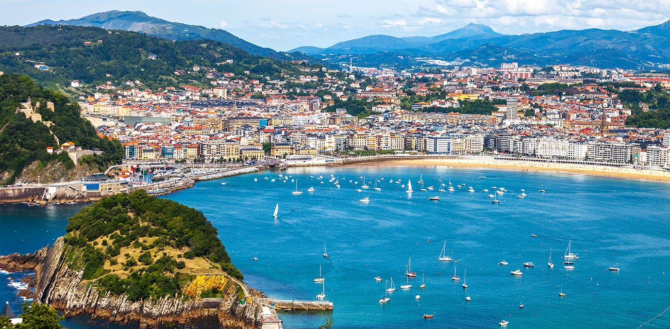 Beautiful San Sebastian in Spain