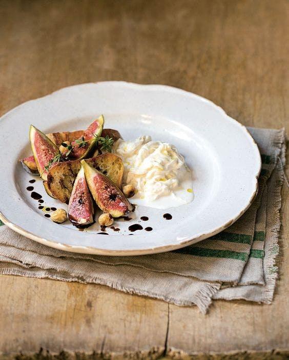 Burrata and Figs with Truffle Honey