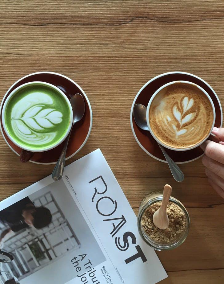 COFFEE GREEN TEA SWAP