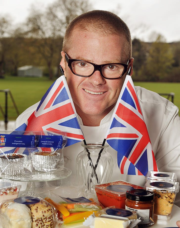 Chef Heston Blumenthal with British foods