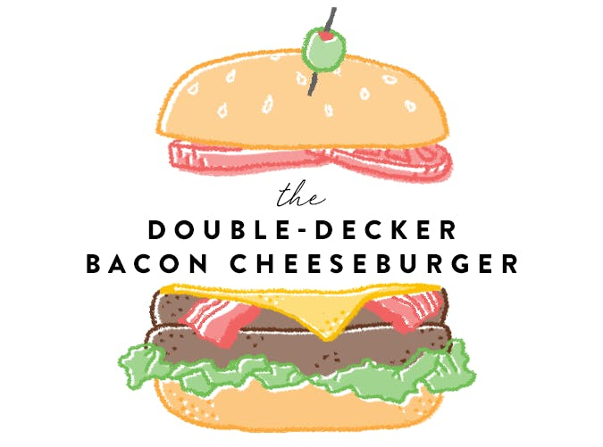 Double Decker Bacon Cheeseburger