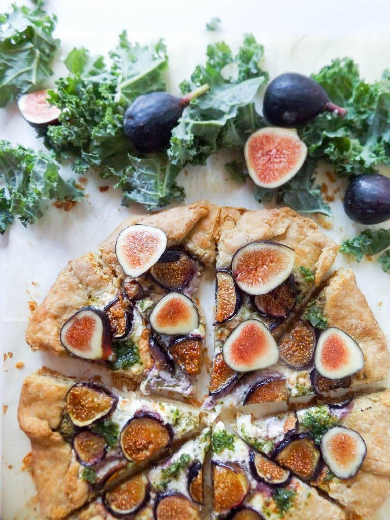 Fig   Burrata Galette with Kale Walnut Pesto1
