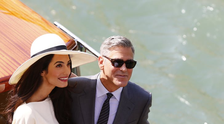 George & Amal Clooney Step Out for First Mommy-Daddy Date Night in Italy