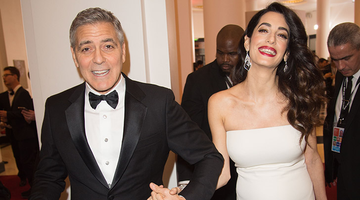 George and Amal Clooney step out with their twins in Italy