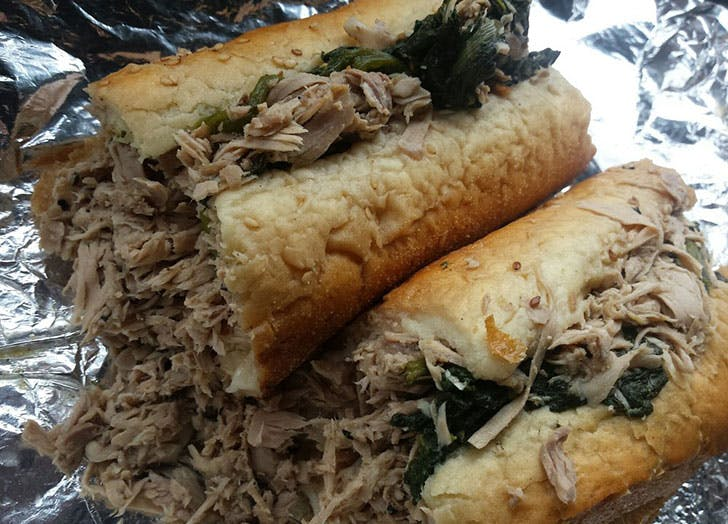 Johns Roast Pork sandwich in Philadelphia
