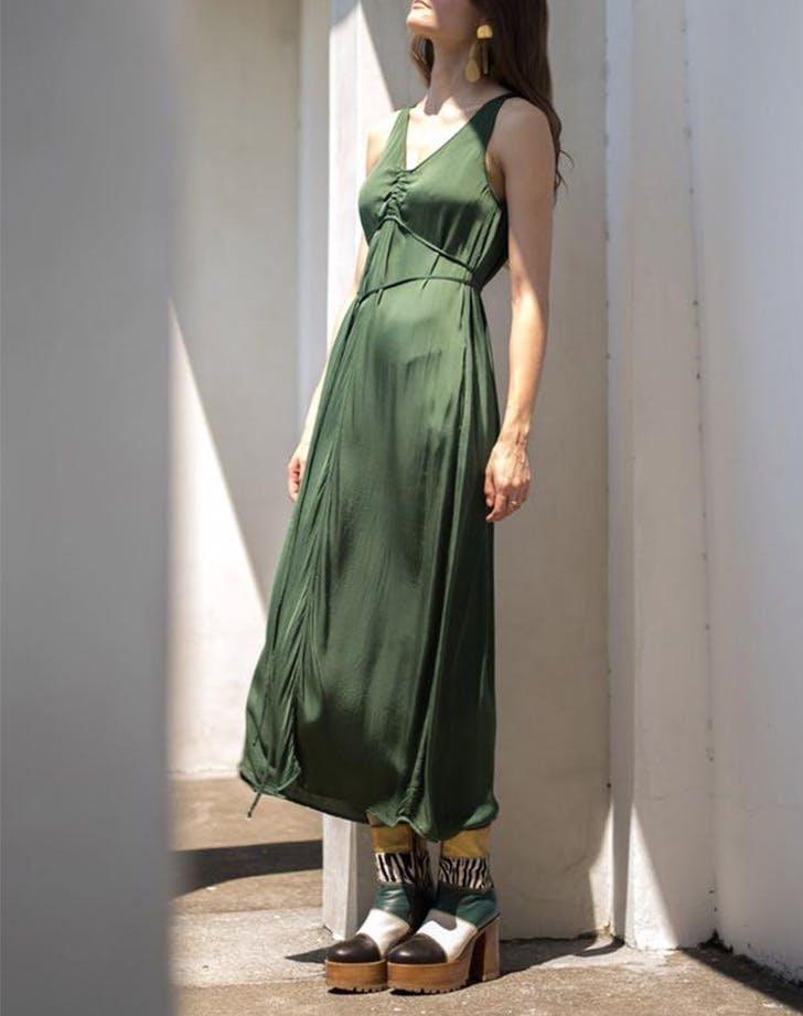 LA wrinkly trend slip dress LIST