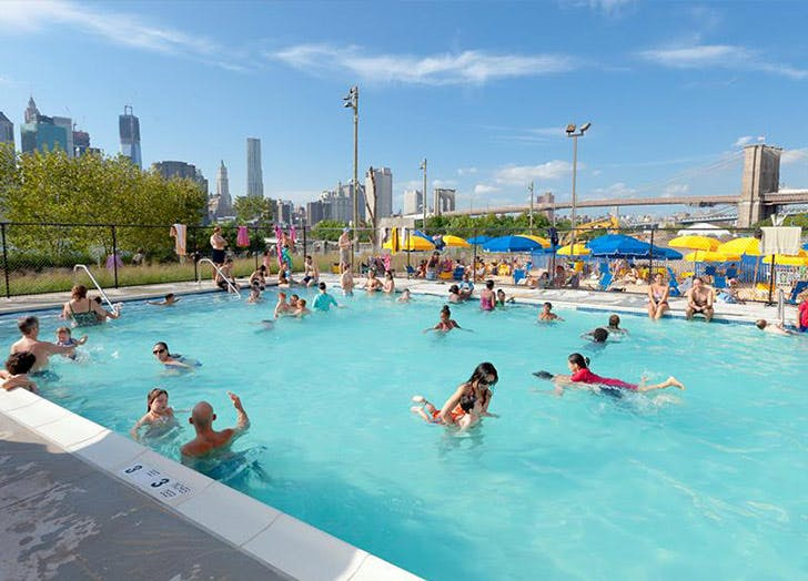 NY pools pop up brooklyn bridge LIST