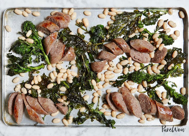 ONE PAN SAUSAGE WITH BROCCOLI RABE AND WHITE BEANS