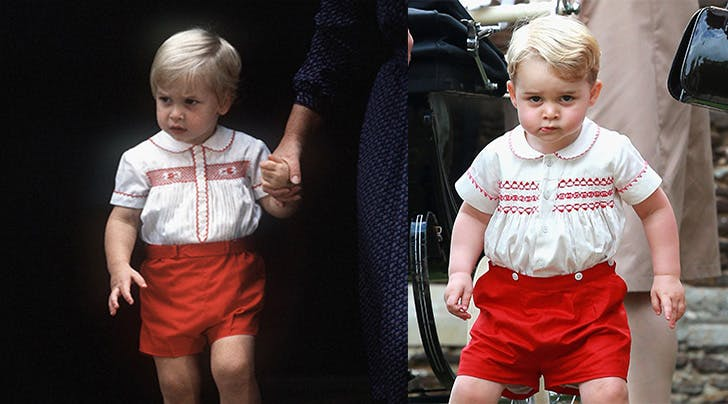 Prince George Prince William Look Alike Red Shorts
