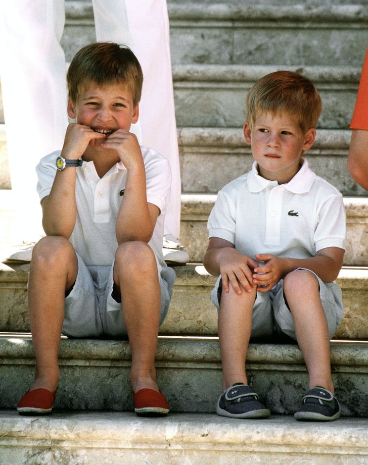 Prince William Prince Harry dressed young